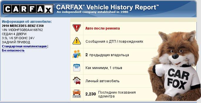 Термин отчета Carfax